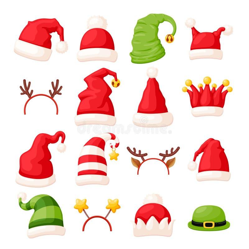 Accessori Natale.Cappelli Di Natale Ed Accessori Capi Illustrazione