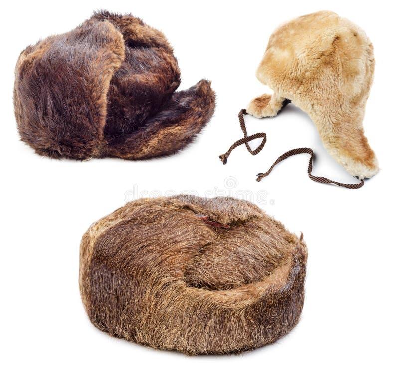 Cappelli di pelliccia immagini stock libere da diritti
