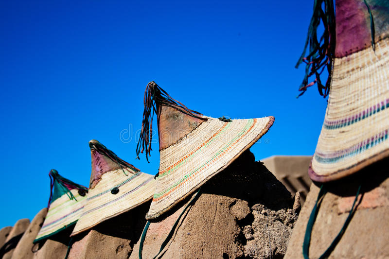 Cappelli maliani tipici. fotografie stock libere da diritti