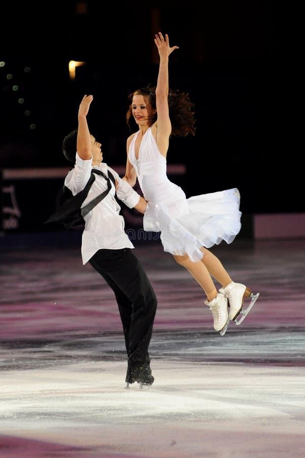 Cappellini e Lanotte à la récompense d'or du patin 2011 images libres de droits