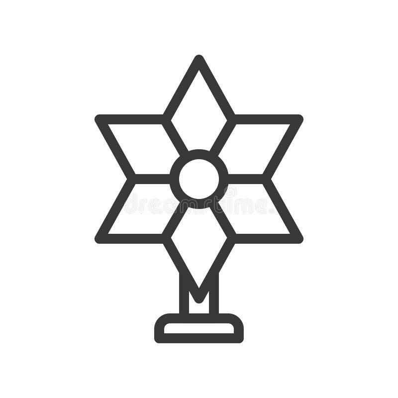 Cappello a cilindro dell'albero della stella, insieme di tema di Buon Natale, st editabile del profilo royalty illustrazione gratis