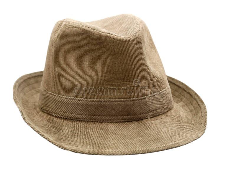 Cappello del Brown immagine stock