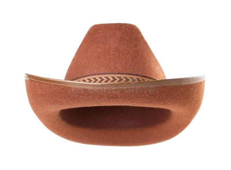 Cappello del cowboy su priorità bassa bianca immagine stock