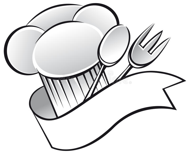 Cappello del cuoco unico illustrazione di stock