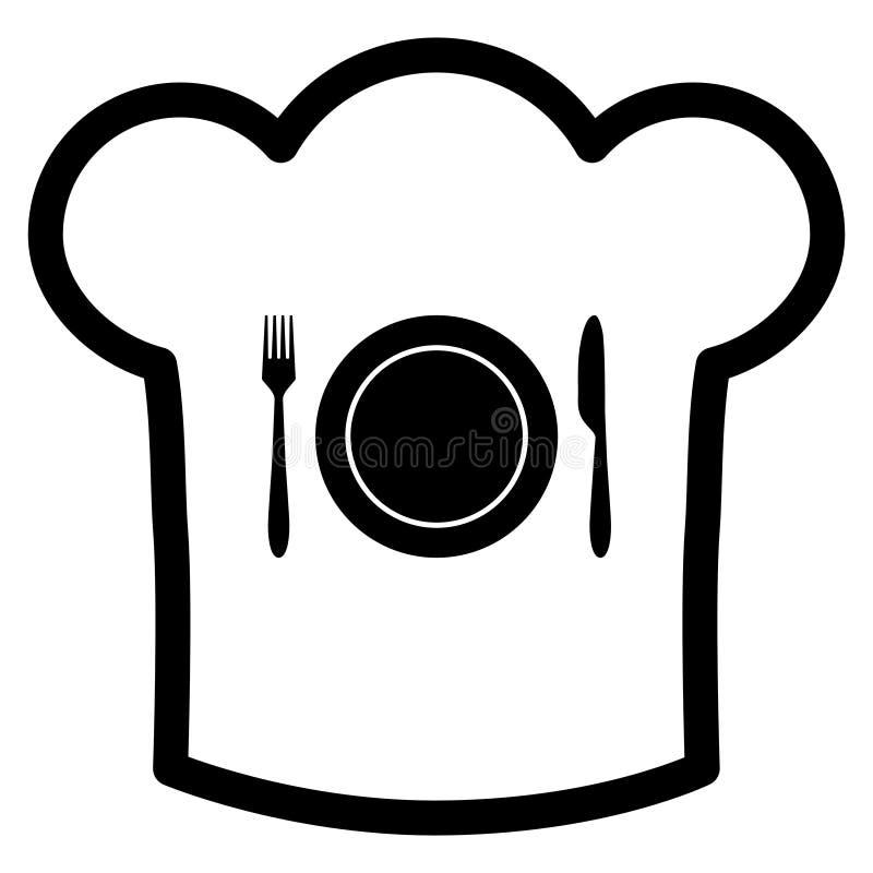 Cappello del cuoco unico e della coltelleria royalty illustrazione gratis