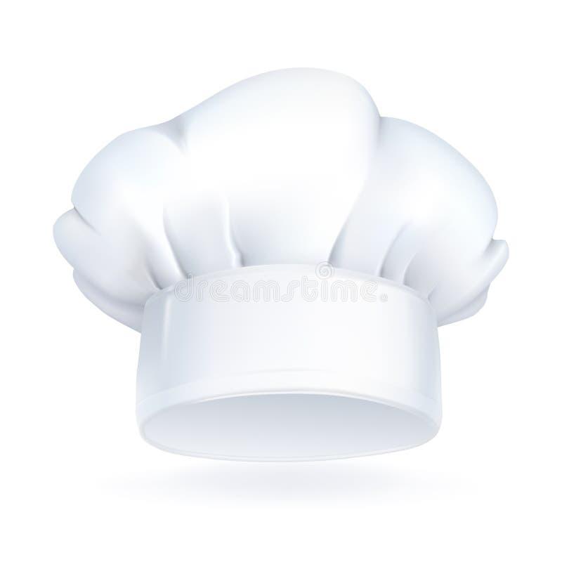 Cappello del cuoco unico, icona illustrazione di stock