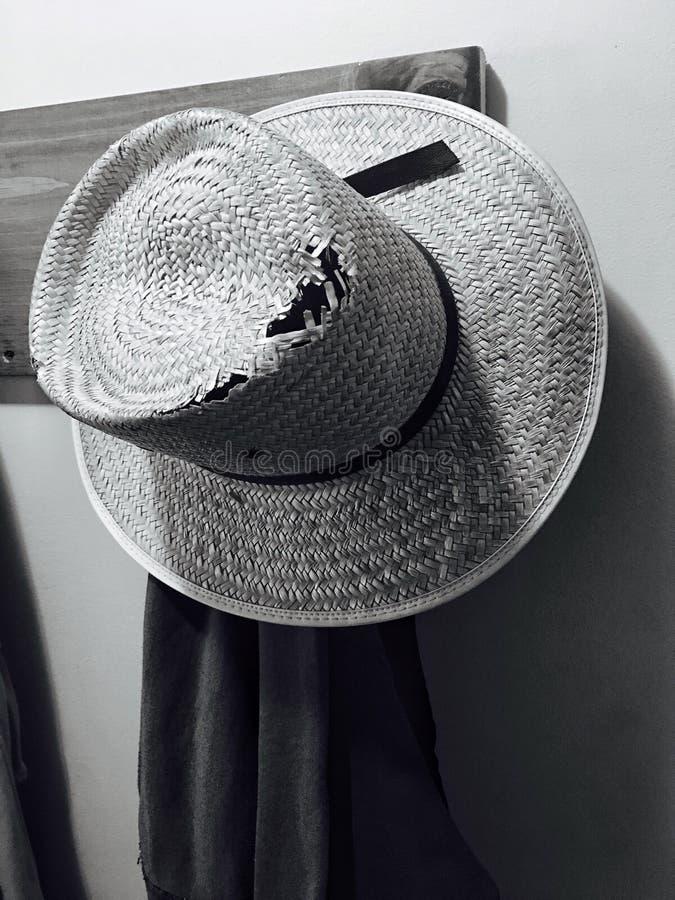 Cappello del lavoro di Amish fotografie stock libere da diritti