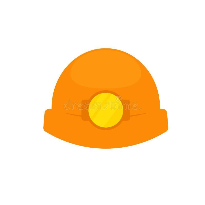 Cappello del minatore delle miniere di carbone illustrazione vettoriale