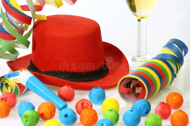 Cappello del partito immagine stock