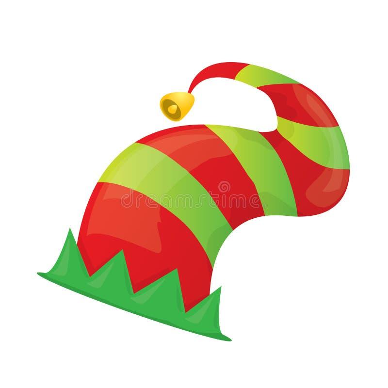 Cappello dell'elfo di natale di vettore illustrazione vettoriale