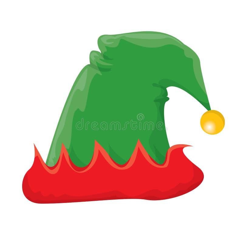 Cappello dell'elfo di Natale Illustrazione di vettore illustrazione di stock
