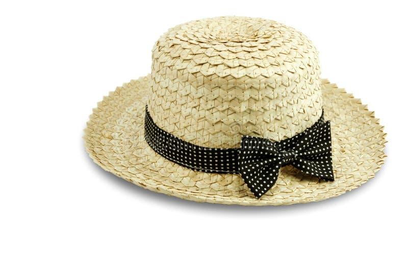 Cappello della donna isolato su fondo bianco con il percorso di ritaglio fotografie stock