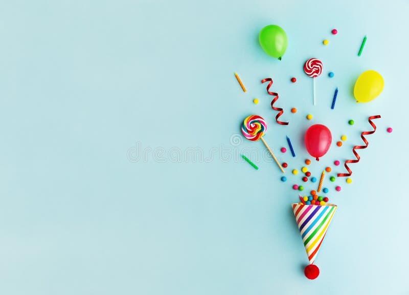 Cappello della festa di compleanno immagine stock