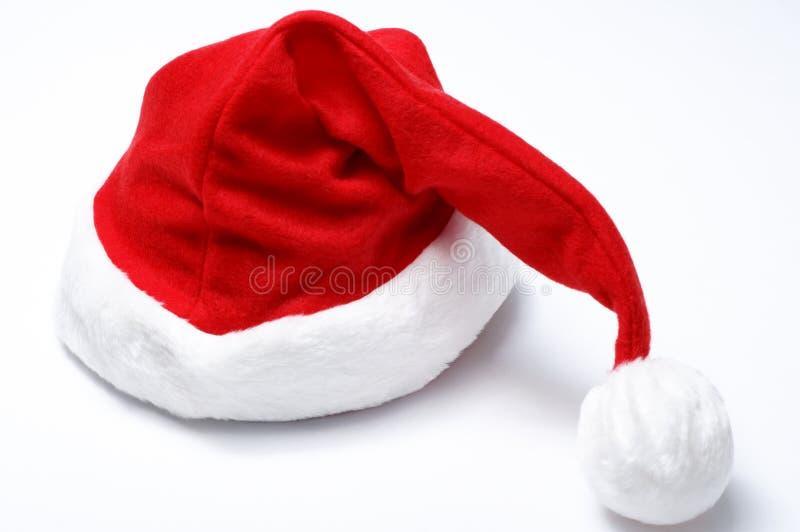 Cappello della Santa di natale fotografia stock