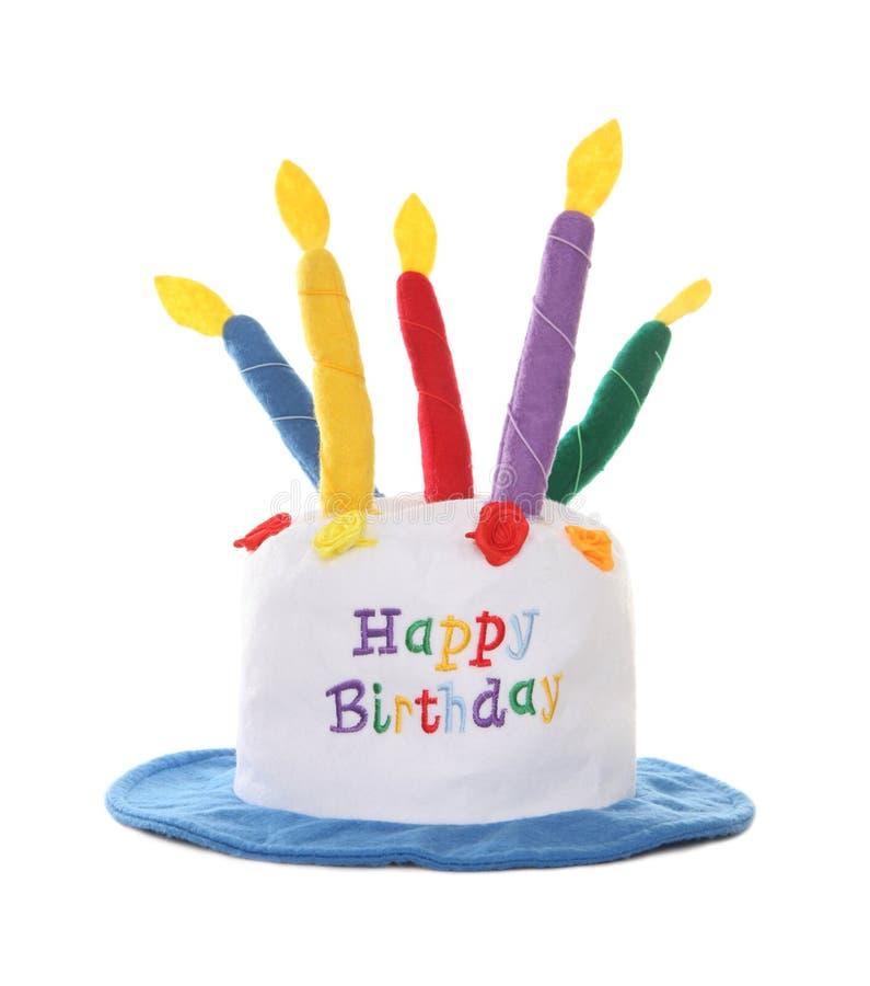 Cappello di buon compleanno fotografia stock libera da diritti