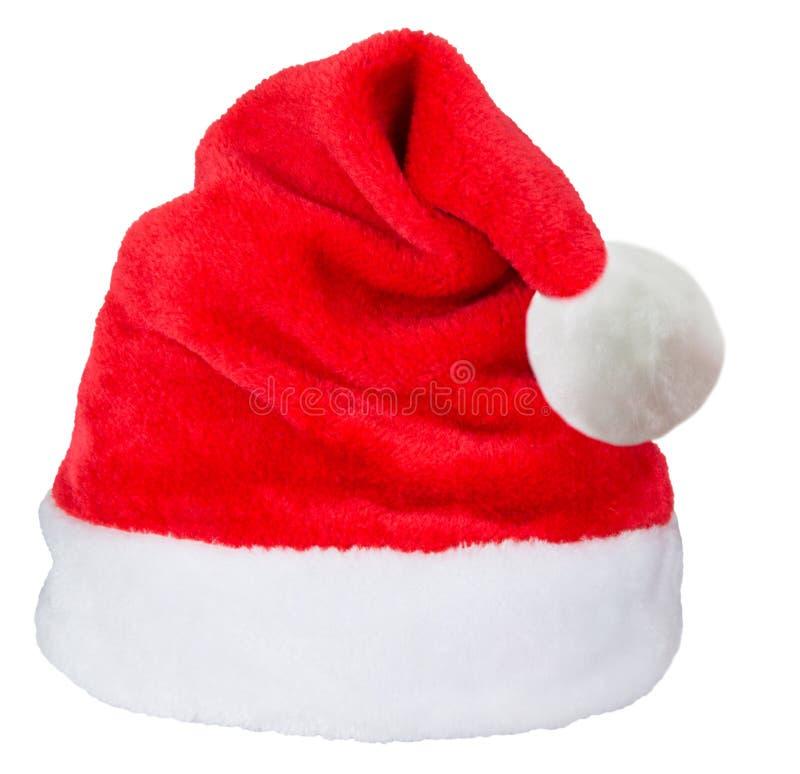 Cappello di colore rosso del Babbo Natale immagine stock