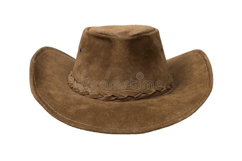 Cappello di cuoio del cowboy fotografia stock