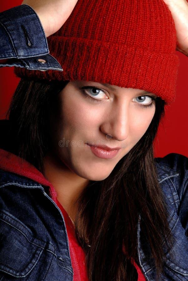 Cappello di lana fotografia stock. Immagine di capelli ...