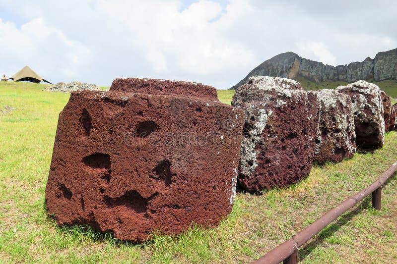 Cappello di Moai nell'isola di pasqua, Cile immagini stock
