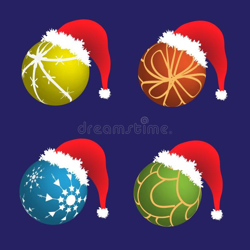 Download Cappello Di Natale Della Santa Illustrazione di Stock - Illustrazione di telaio, isolato: 7301951