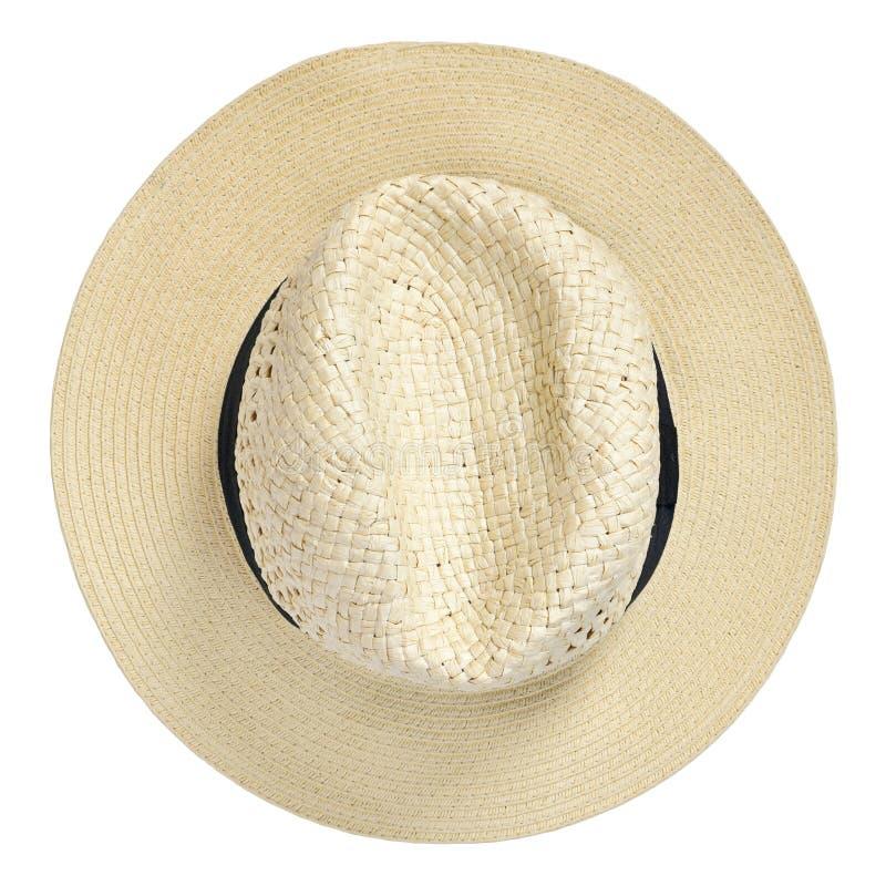 Cappello di Panama, cappello tradizionale di estate con il hatband nero immagini stock
