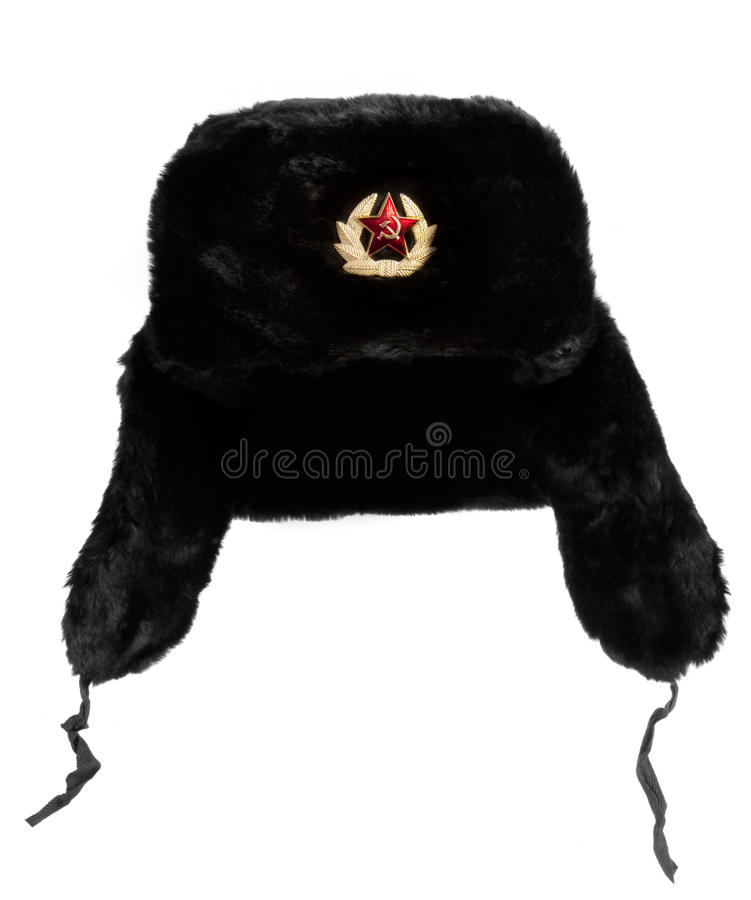 Cappello di pelliccia russo fotografia stock