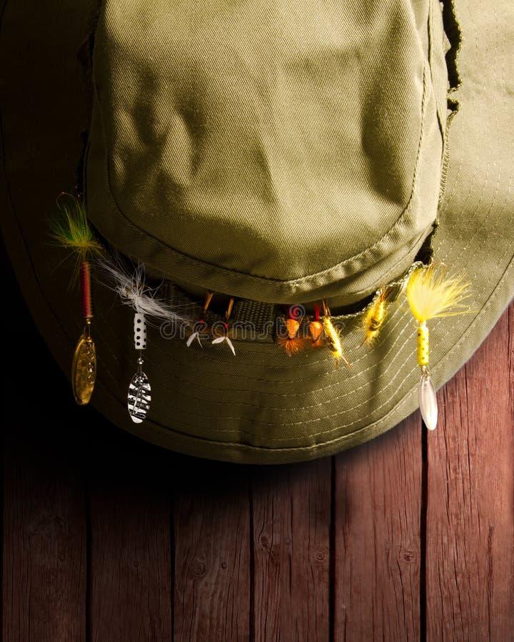 Cappello di pesca fotografie stock libere da diritti