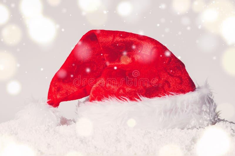 Cappello di Santa di Natale fotografia stock