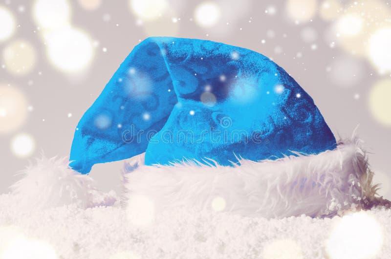 Cappello di Santa di Natale immagini stock libere da diritti