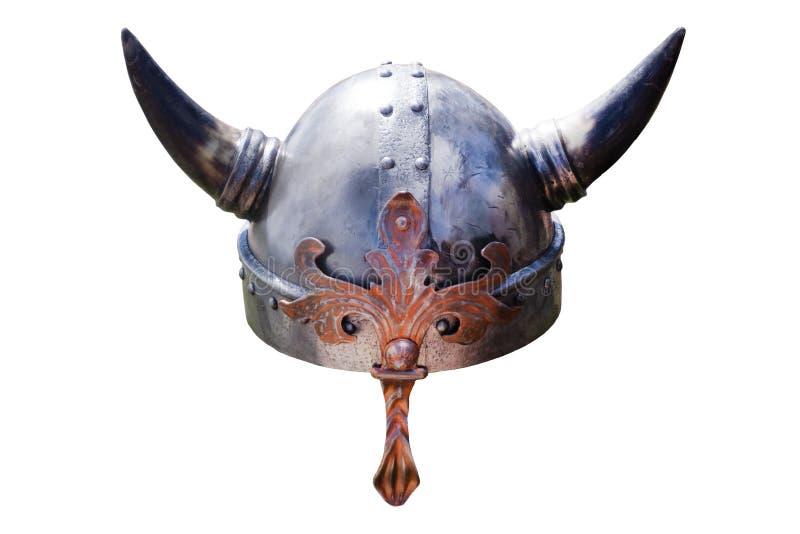 Cappello di Viking con i grandi corni Inghilterra vuota fotografia stock libera da diritti