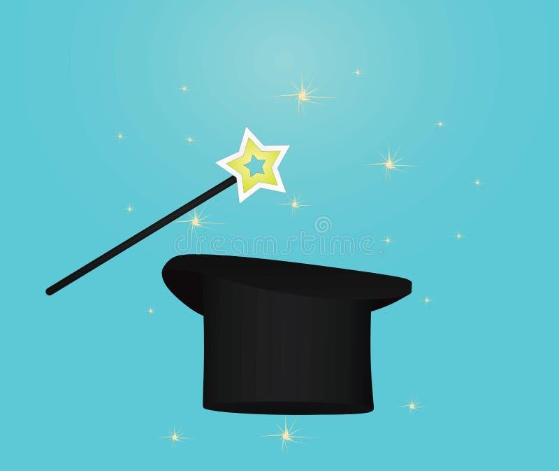 Cappello e bastone magici royalty illustrazione gratis