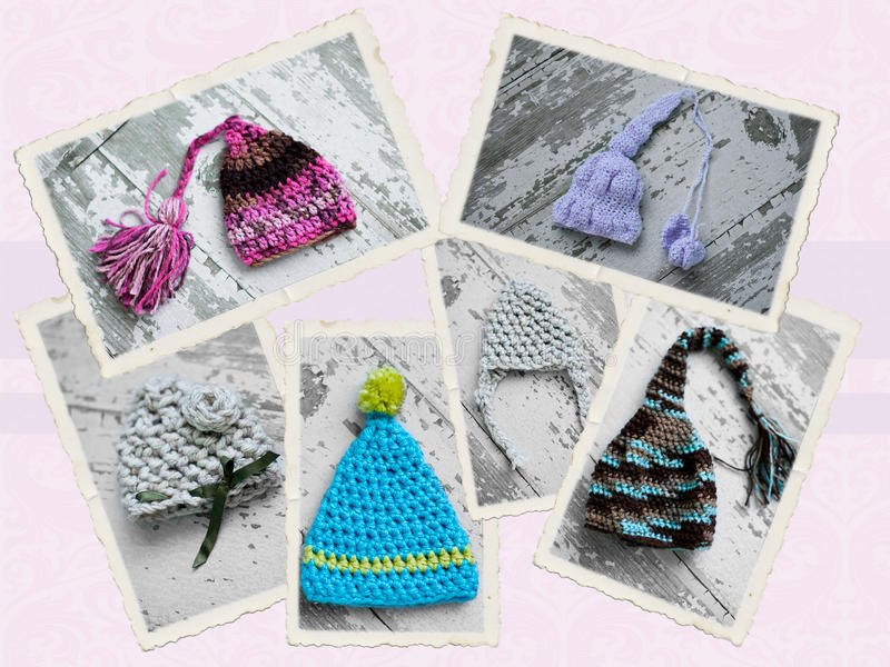 Cappello Handmade del crochet fotografie stock