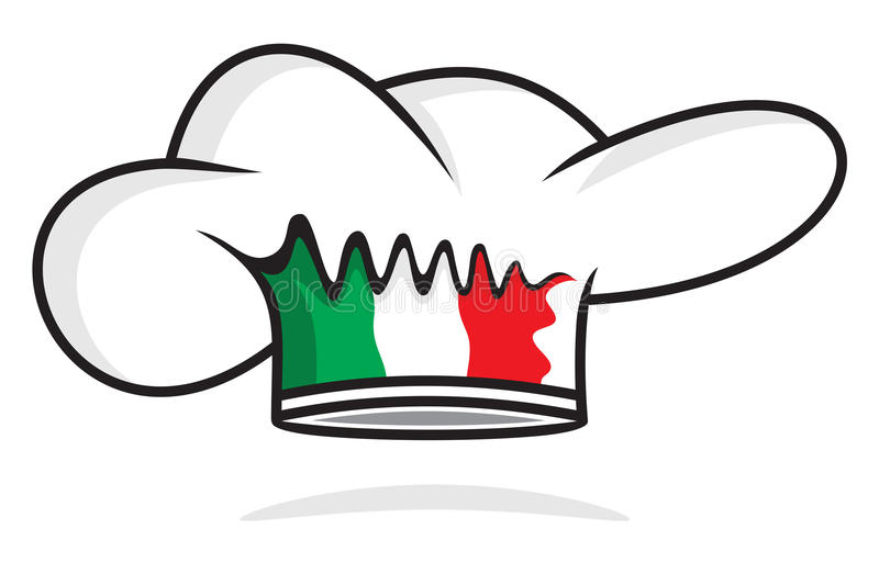 Cappello italiano del cuoco unico illustrazione di stock