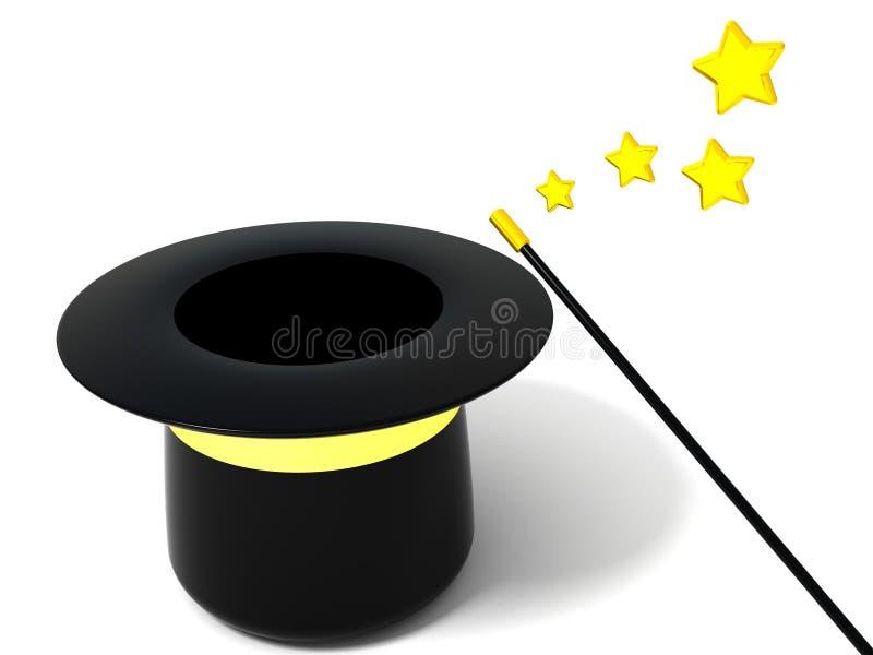 Download Cappello magico vuoto illustrazione di stock. Illustrazione di illusione - 3149263