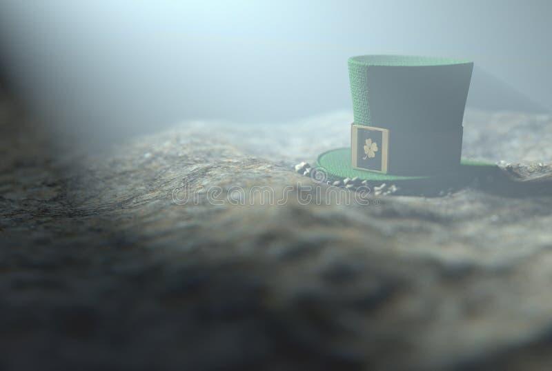 Cappello minuscolo perso del leprechaun illustrazione di stock