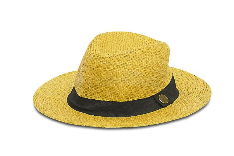 Cappello moderno elegante isolato su fondo bianco immagine stock