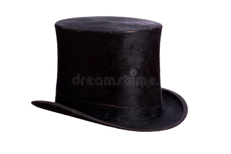 Cappello molto vecchio su bianco immagine stock