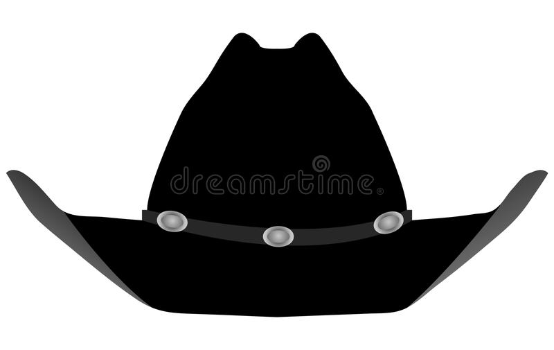 Cappello nero del cowboy fotografia stock