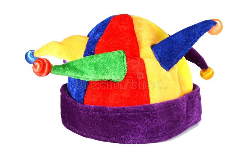 Cappello per un giullare e un pagliaccio immagini stock