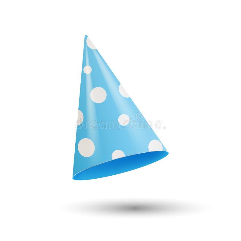Cappello realistico del partito illustrazione di vettore 3d isolata su fondo bianco illustrazione di stock