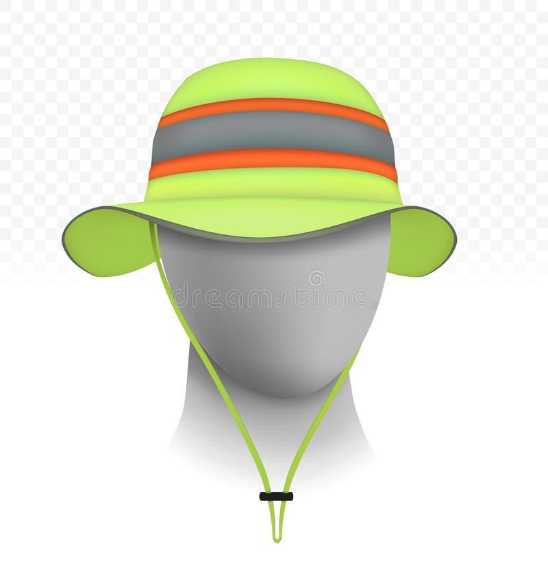 Cappello riflettente unisex del sole su fondo trasparente fotografie stock libere da diritti