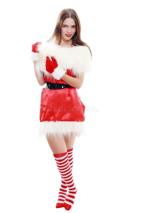 Cappello rosso del Babbo Natale immagini stock