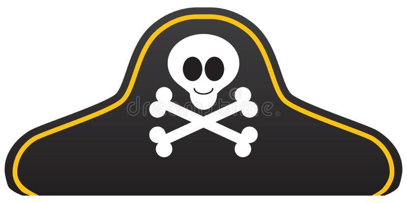 Cappello sorridente del pirata del fumetto illustrazione vettoriale