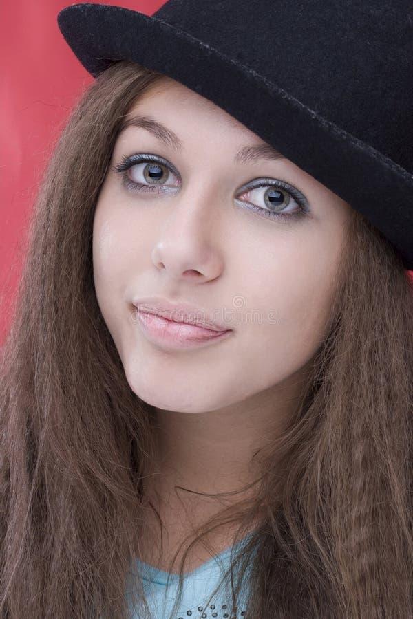 Cappello superiore di Redhead fotografie stock libere da diritti