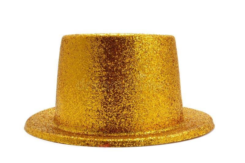 Cappello superiore dorato immagini stock libere da diritti