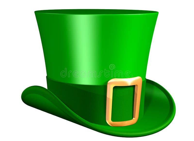 Cappello superiore verde illustrazione vettoriale
