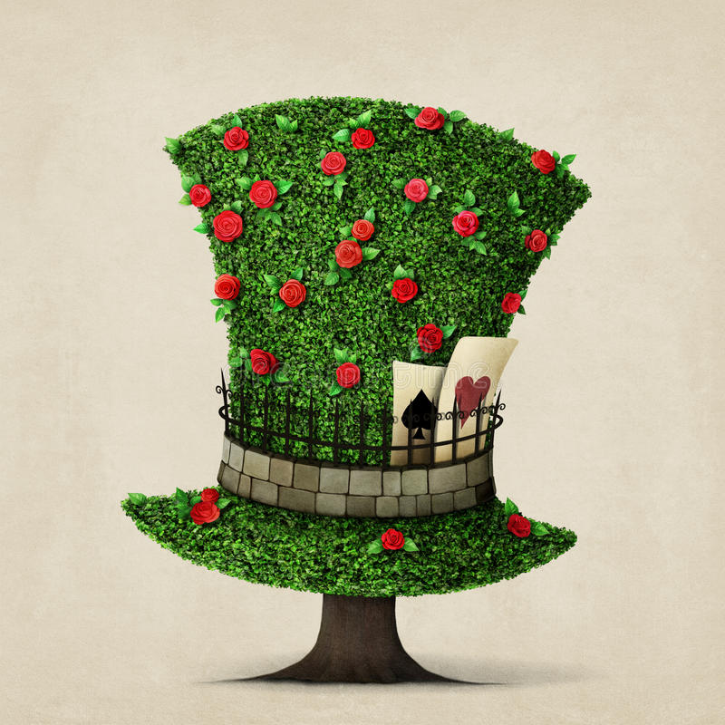 Cappello verde illustrazione di stock