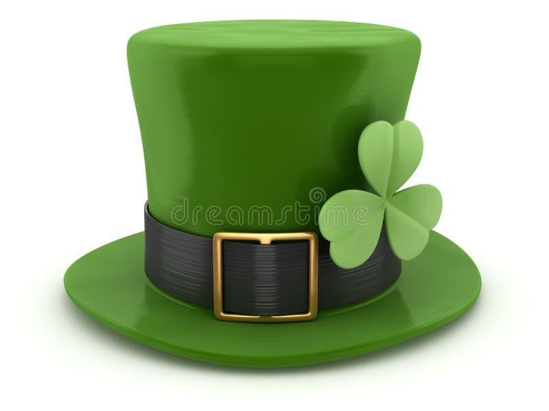 Cappello verde del leprechaun illustrazione vettoriale