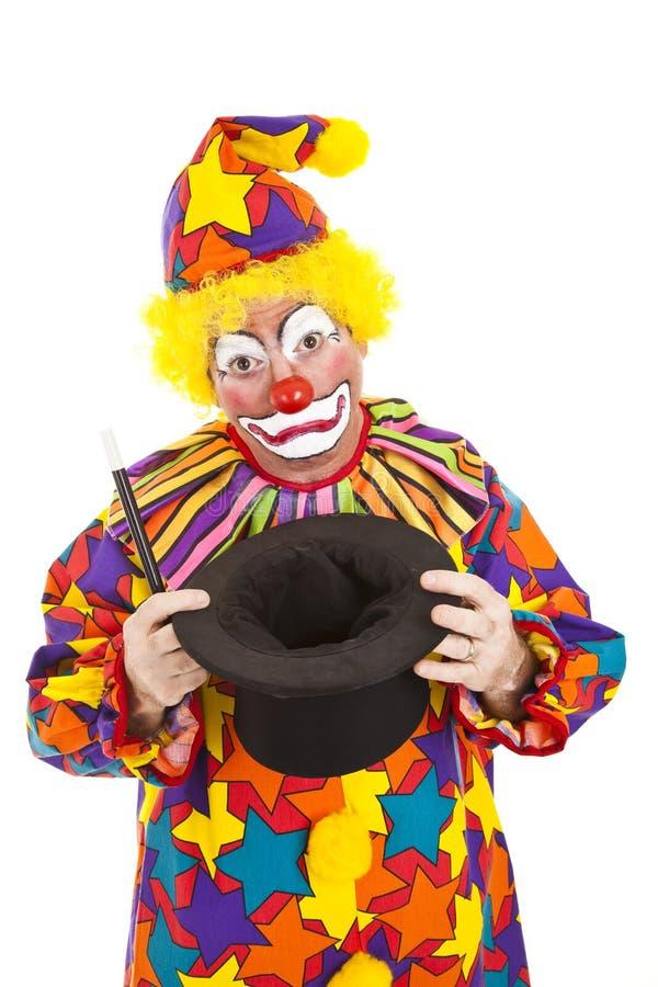 Cappello vuoto del pagliaccio triste immagini stock libere da diritti