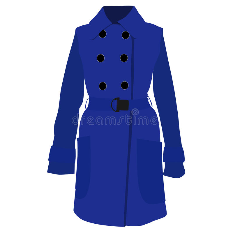 Cappotto blu royalty illustrazione gratis